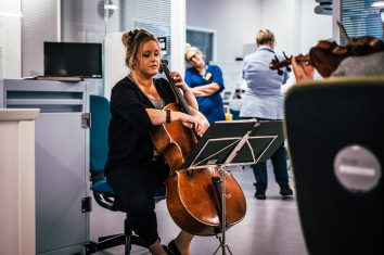 LMN musicians at Southmead Hospital