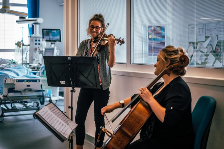 LMN musicians at Southmead Hospital